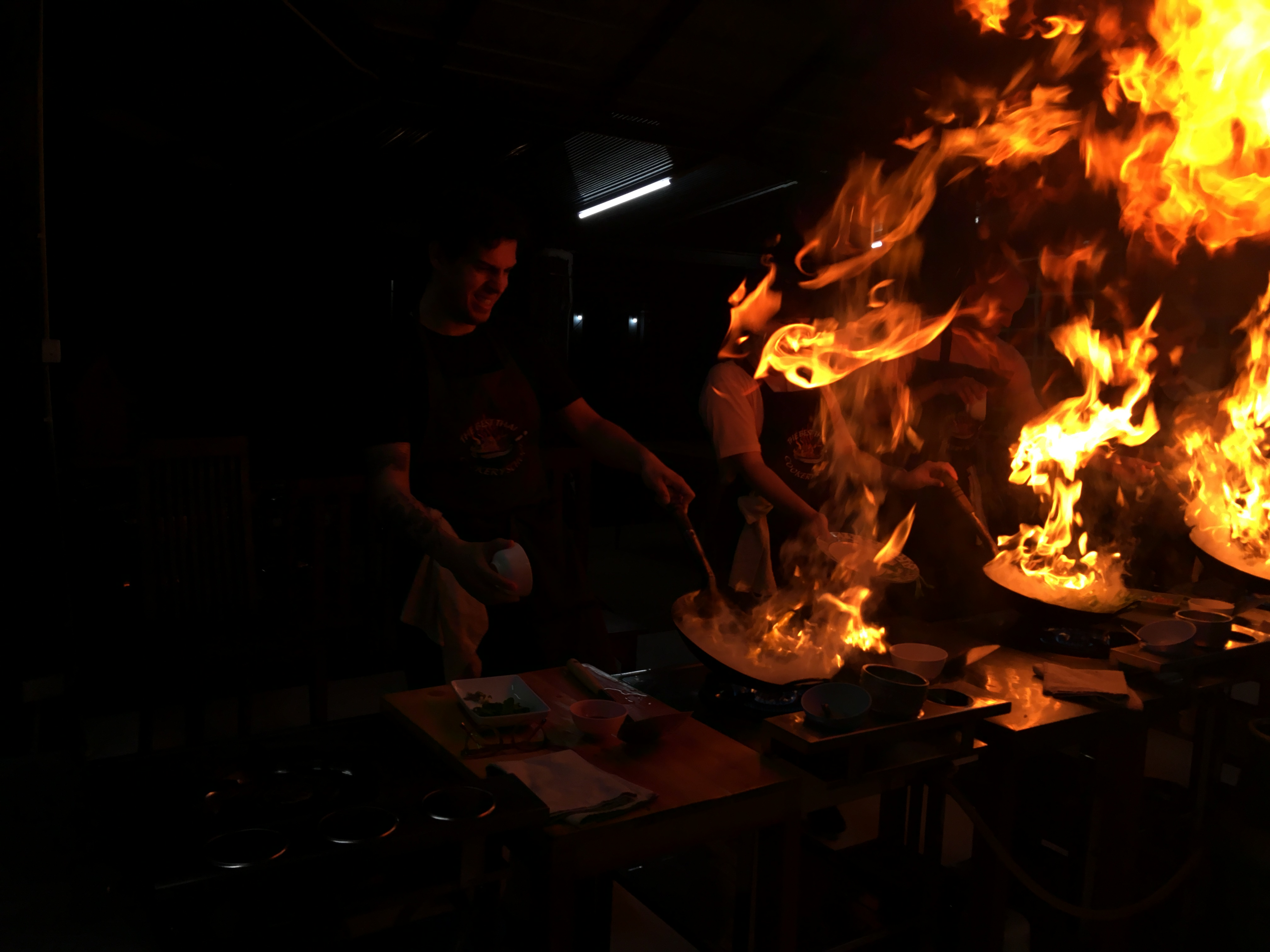 Me cooking with fire!